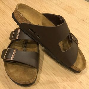 Arizona Birkenstocks, Dark Brown, Size 39